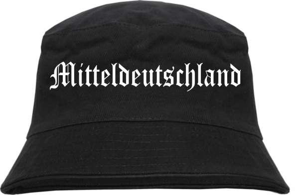 Mitteldeutschland Fischerhut - Altdeutsch - bedruckt - Bucket Hat Anglerhut Hut