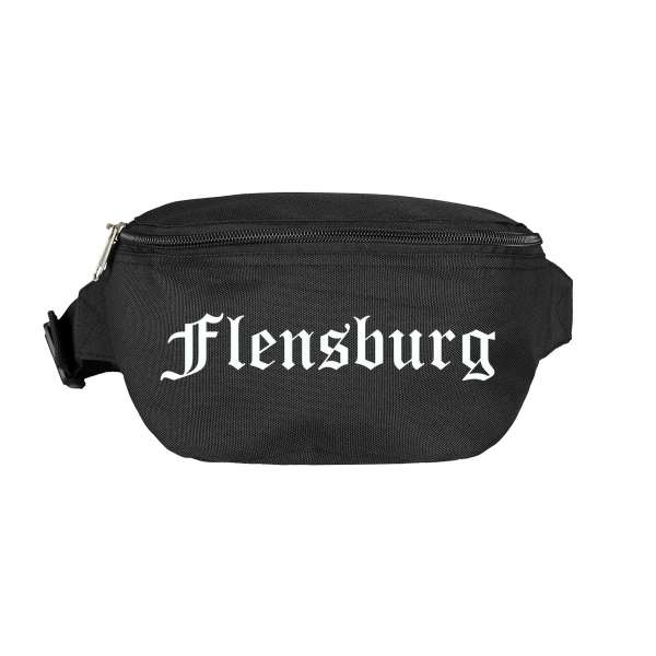 Flensburg Bauchtasche - Altdeutsch bedruckt - Gürteltasche Hipbag
