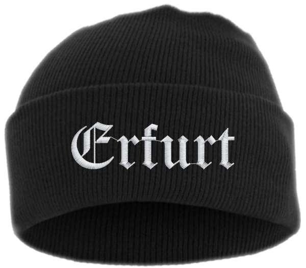 Erfurt Umschlagmütze - Altdeutsch - Bestickt - Mütze mit breitem Umschlag