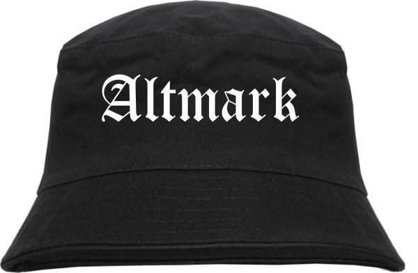 Altmark Fischerhut - Altdeutsch - bedruckt - Bucket Hat Anglerhut Hut