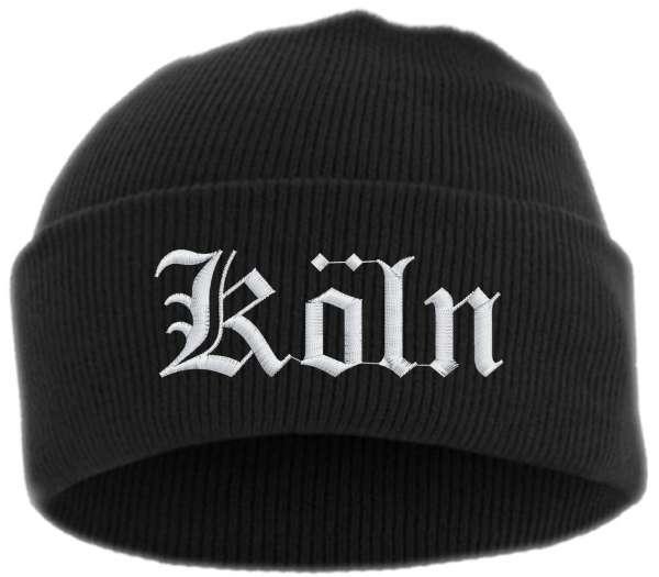 Köln Umschlagmütze - Altdeutsch - Bestickt - Mütze mit breitem Umschlag
