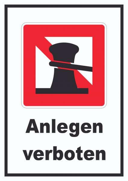Anlegen verboten Schild