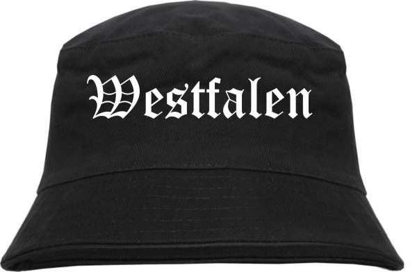 Westfalen Fischerhut - Altdeutsch - bedruckt - Bucket Hat Anglerhut Hut