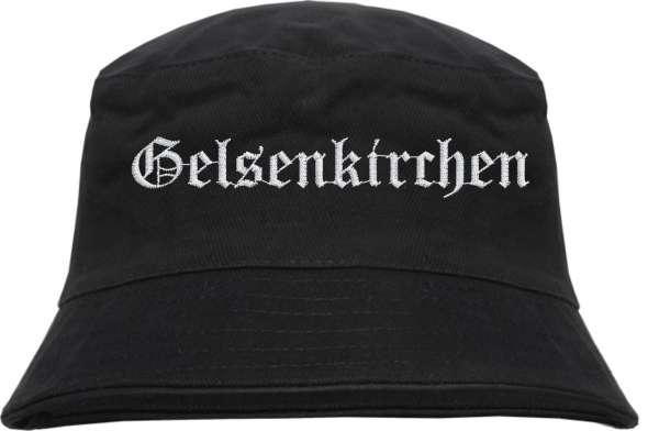 Gelsenkirchen Fischerhut - Altdeutsch - bestickt - Bucket Hat Anglerhut Hut