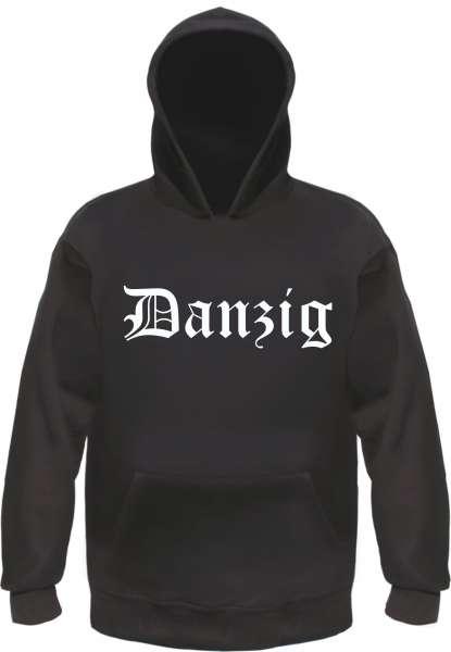 Danzig Kapuzensweatshirt - Altdeutsch bedruckt - Hoodie Kapuzenpullover