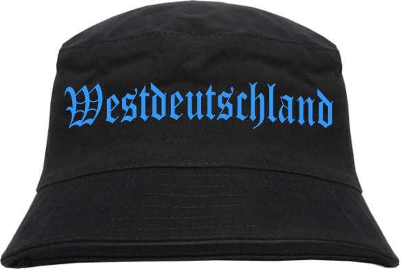 Westdeutschland Fischerhut - Druckfarbe Hellblau - Bucket Hat