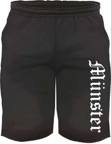 Münster Sweatshorts - Altdeutsch bedruckt - Kurze Hose Shorts