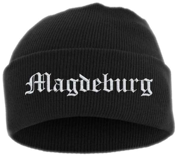 Magdeburg Umschlagmütze - Altdeutsch - Bestickt - Mütze mit breitem Umschlag