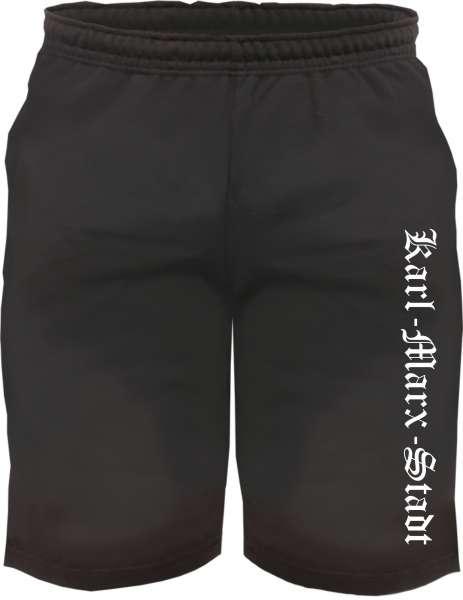 Karl-Marx-Stadt Sweatshorts - Altdeutsch bedruckt - Kurze Hose Shorts