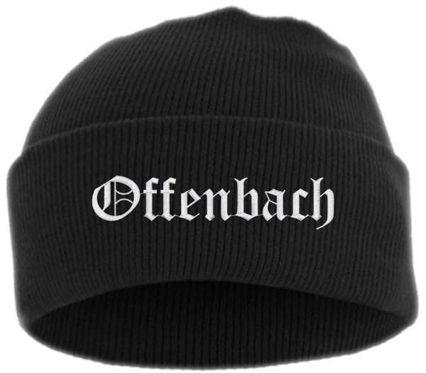 Offenbach Umschlagmütze - Altdeutsch - Bestickt - Mütze mit breitem Umschlag