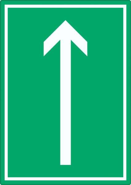 Richtungspfeil hoch Aufkleber hochkant weiss grün Pfeil