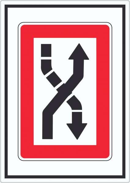 Fahrwasser nach Steuerbord zu überqueren Symbol Aufkleber