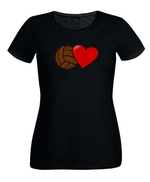 FUSSBALL UND HERZ Damen T-Shirt