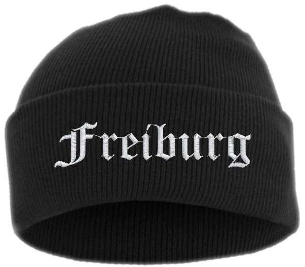 Freiburg Umschlagmütze - Altdeutsch - Bestickt - Mütze mit breitem Umschlag