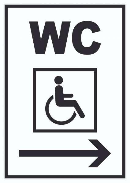WC Behinderten rechts Schild
