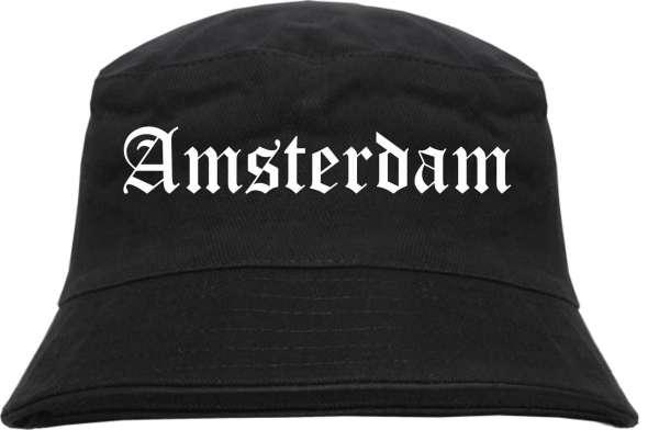 Amsterdam Fischerhut - Altdeutsch - bedruckt - Bucket Hat Anglerhut Hut
