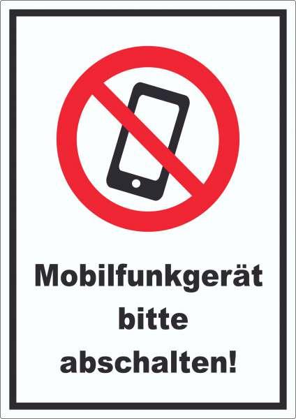 Smartphone Handy aus Mobilfunkgerät abschalten Aufkleber