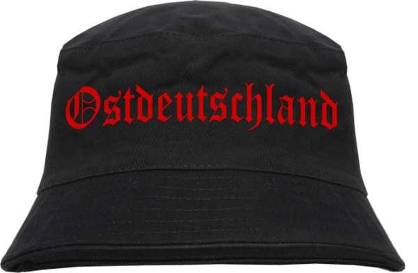 Ostdeutschland Fischerhut - Druckfarbe Rot - Bucket Hat