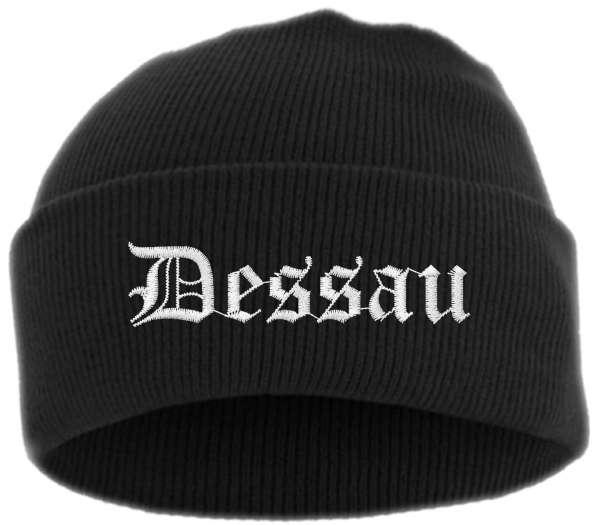 Dessau Umschlagmütze - Altdeutsch - Bestickt - Mütze mit breitem Umschlag