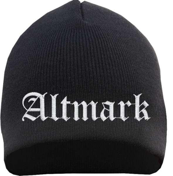 Altmark Beanie Mütze - Altdeutsch - Bestickt - Strickmütze Wintermütze