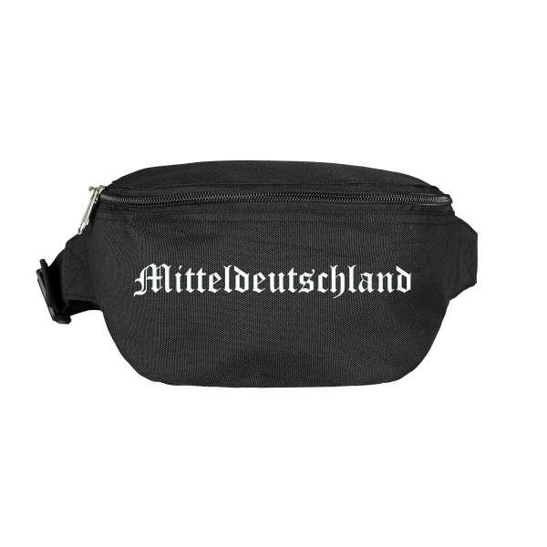 Mitteldeutschland Bauchtasche - Altdeutsch bedruckt - Gürteltasche Hipbag
