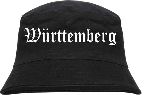 Württemberg Fischerhut - Altdeutsch - bedruckt - Bucket Hat Anglerhut Hut