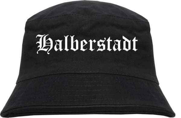 Halberstadt Fischerhut - Altdeutsch - bedruckt - Bucket Hat Anglerhut Hut