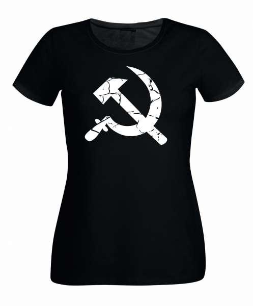 Hammer und Sichel s/w Varianten Damen T-Shirt