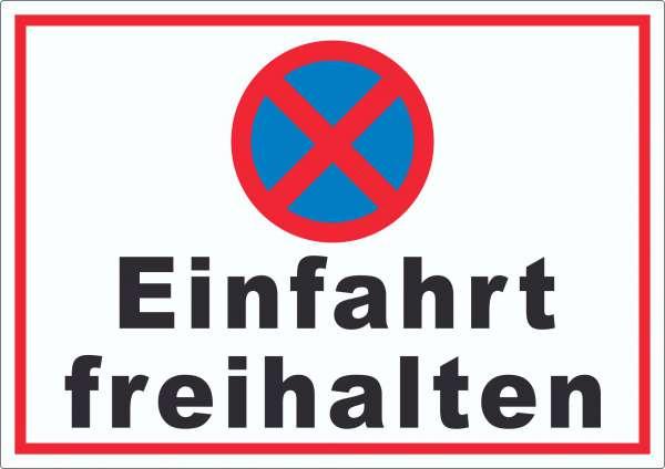 Parken verboten Einfahrt freihalten waagerecht Aufkleber