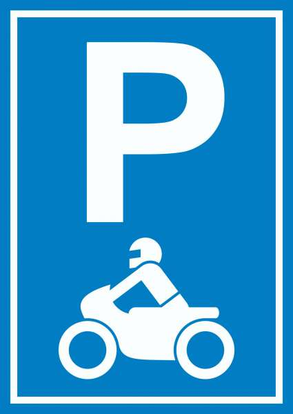 Motorrad Parkplatz Schild Biker Parkplatz