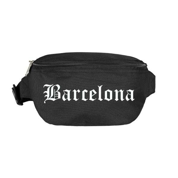 Barcelona Bauchtasche - Altdeutsch bedruckt - Gürteltasche Hipbag