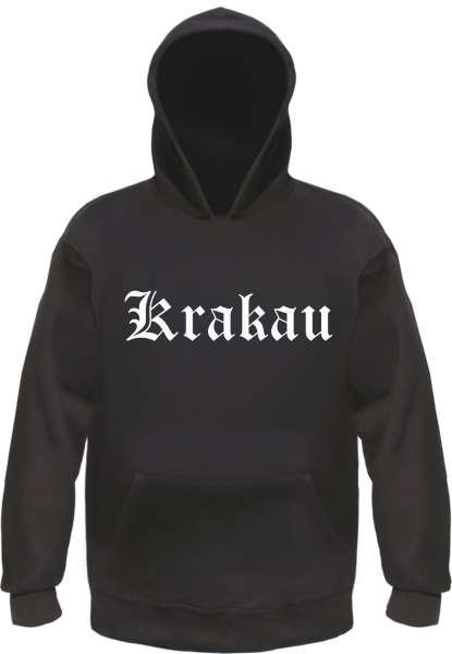 Krakau Kapuzensweatshirt - Altdeutsch bedruckt - Hoodie Kapuzenpullover