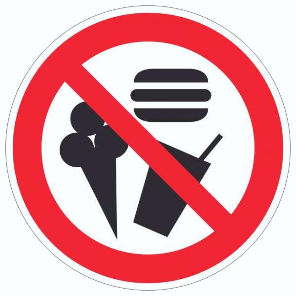 Essen und Trinken verboten Aufkleber Kreis