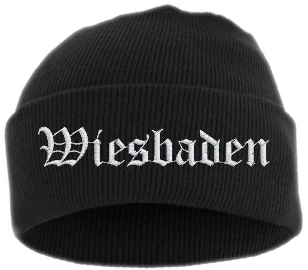 Wiesbaden Umschlagmütze - Altdeutsch - Bestickt - Mütze mit breitem Umschlag