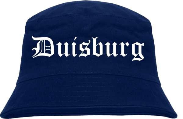 Duisburg Fischerhut - Dunkelblau - Altdeutsch - bedruckt - Bucket Hat Anglerhut Hut