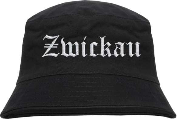 Zwickau Fischerhut - Altdeutsch - bestickt - Bucket Hat Anglerhut Hut