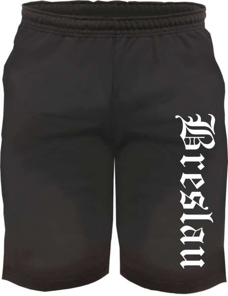 Breslau Sweatshorts - Altdeutsch bedruckt - Kurze Hose Shorts