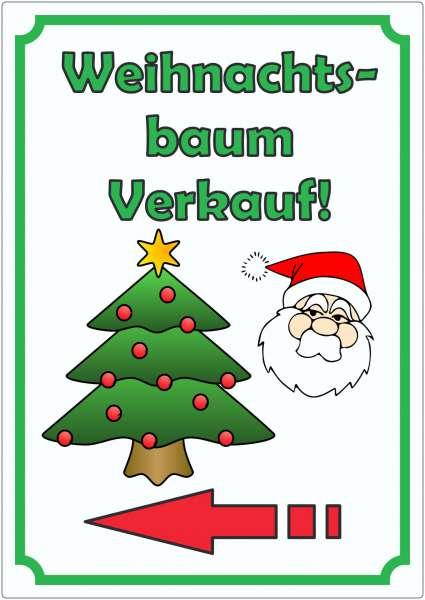 Werbeaufkleber Aufkleber Weihnachtsbaum Hochkant mit Pfeil links