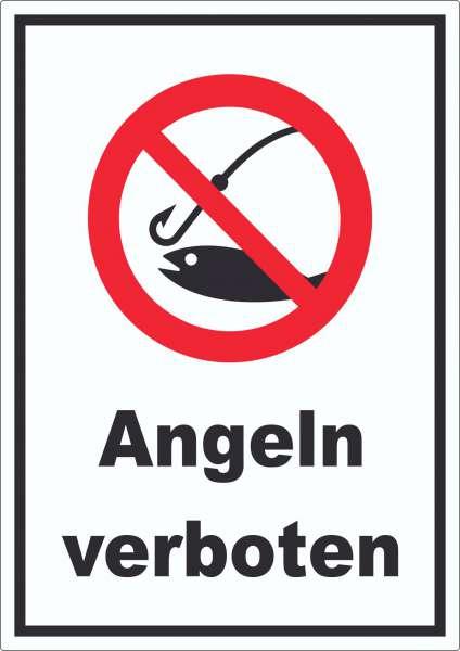 Angeln verboten Aufkleber