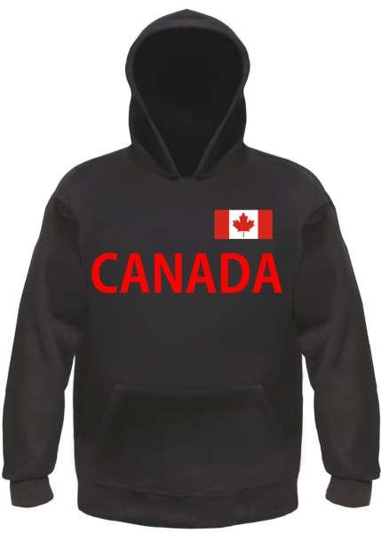 Canada Kapuzensweatshirt - bedruckt mit Flagge - Hoodie Kapuzenpullover