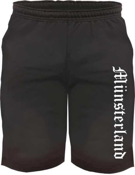 Münsterland Sweatshorts - Altdeutsch bedruckt - Kurze Hose Shorts