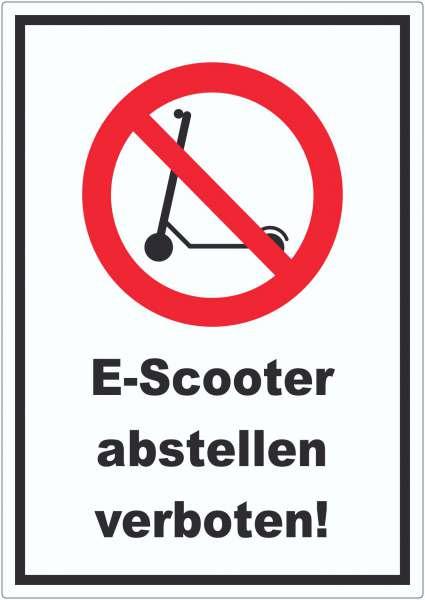 E- Scooter Abstellen verboten Aufkleber Elektro -Tretroller Roller