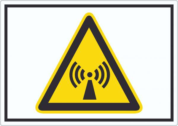 Achtung Nicht ionisierende Strahlung Symbol Aufkleber