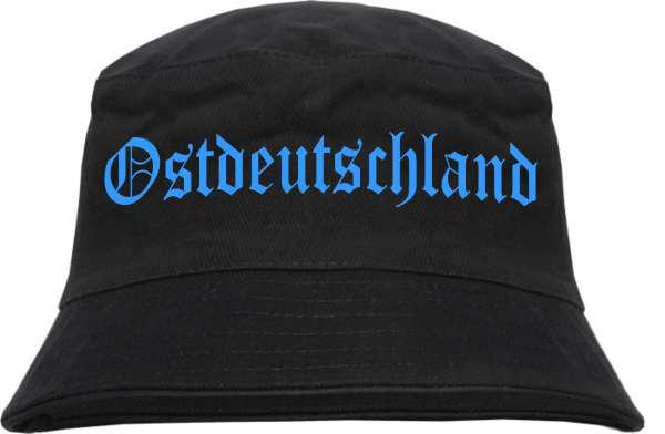Ostdeutschland Fischerhut - Druckfarbe Hellblau - Bucket Hat
