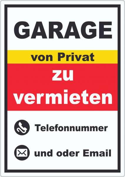 Garage zu vermieten von Privat Hochkant Aufkleber