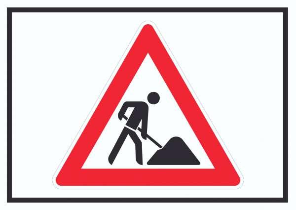 Achtung Baustelle Symbol Schild Arbeitsstelle