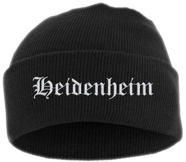 Heidenheim Umschlagmütze - Altdeutsch - Bestickt - Mütze mit breitem Umschlag