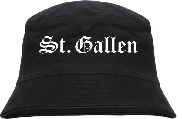 St.Gallen Fischerhut - Altdeutsch - bedruckt - Bucket Hat Anglerhut Hut