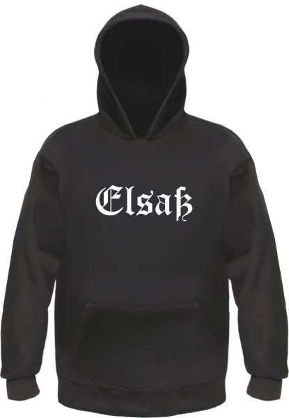 Elsaß Kapuzensweatshirt - Altdeutsch - bedruckt - Hoodie Kapuzenpullover