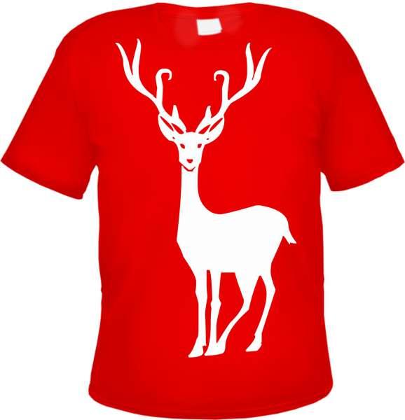 Weihnachten Hirsch Herren - T-Shirt